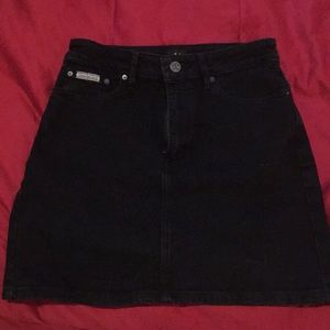 Calvin Klein Black Denim Skirt XS